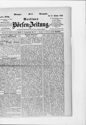 Berliner Börsen-Zeitung vom 21.02.1879