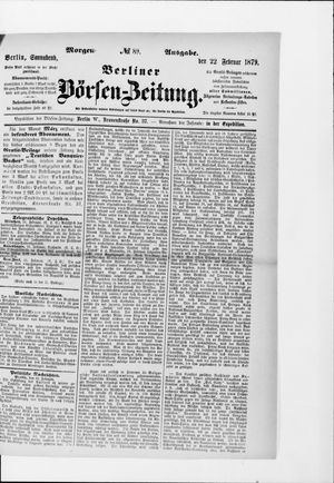 Berliner Börsen-Zeitung vom 22.02.1879