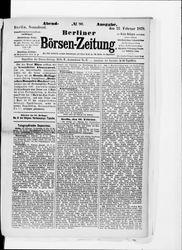 Berliner Börsenzeitung (22.02.1879)