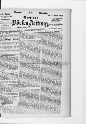 Berliner Börsen-Zeitung vom 23.02.1879