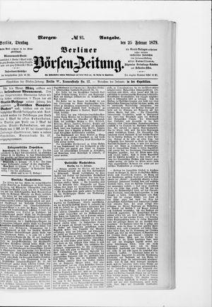 Berliner Börsen-Zeitung vom 25.02.1879