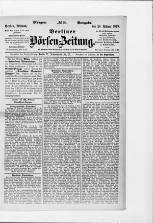 Berliner Börsen-Zeitung vom 26.02.1879