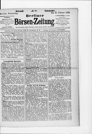 Berliner Börsen-Zeitung vom 27.02.1879