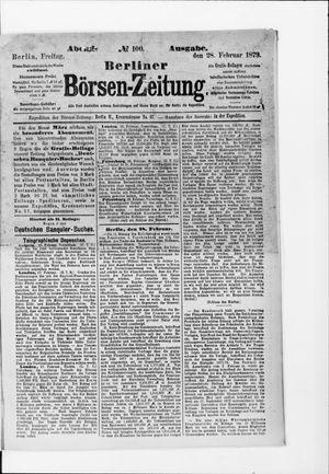 Berliner Börsen-Zeitung vom 28.02.1879