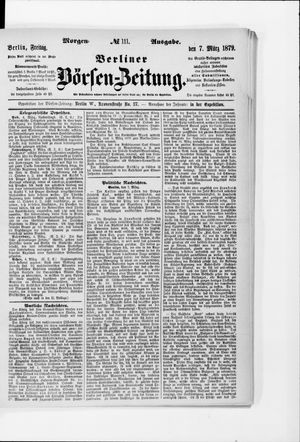 Berliner Börsen-Zeitung vom 07.03.1879