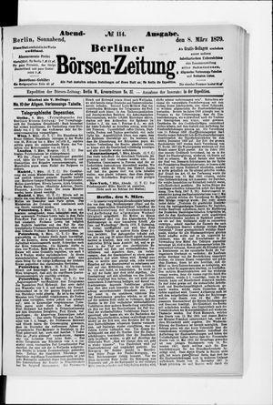 Berliner Börsen-Zeitung vom 08.03.1879