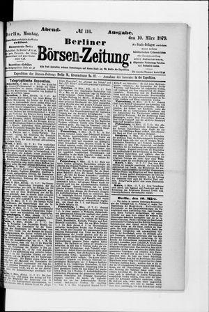Berliner Börsen-Zeitung vom 10.03.1879