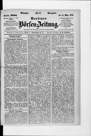 Berliner Börsen-Zeitung vom 12.03.1879