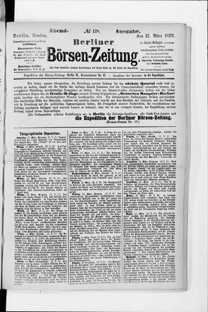 Berliner Börsen-Zeitung vom 17.03.1879