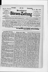 Berliner Börsenzeitung (18.03.1879)