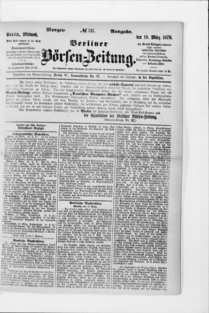 Berliner Börsen-Zeitung vom 19.03.1879