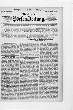Berliner Börsen-Zeitung vom 20.03.1879