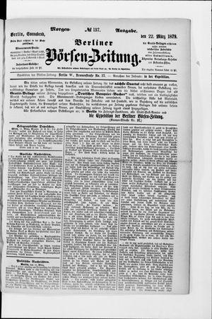 Berliner Börsen-Zeitung vom 22.03.1879