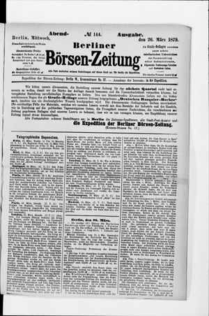 Berliner Börsen-Zeitung vom 26.03.1879