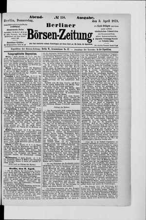 Berliner Börsen-Zeitung vom 03.04.1879