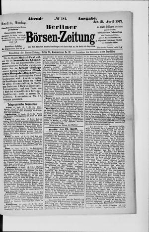 Berliner Börsen-Zeitung vom 21.04.1879