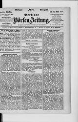Berliner Börsenzeitung (22.04.1879)