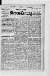 Berliner Börsen-Zeitung (25.04.1879)
