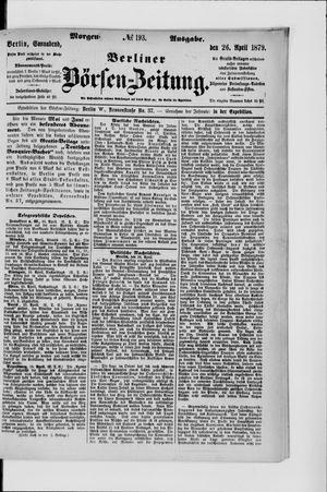 Berliner Börsen-Zeitung vom 26.04.1879