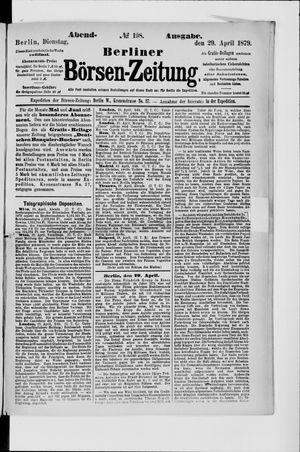 Berliner Börsen-Zeitung vom 29.04.1879
