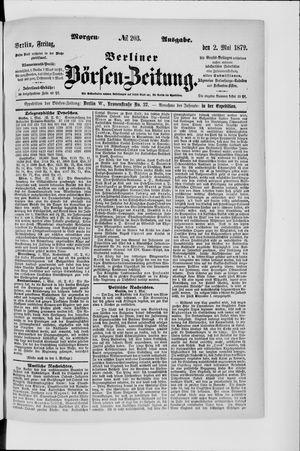 Berliner Börsen-Zeitung on May 2, 1879