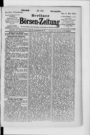 Berliner Börsen-Zeitung vom 03.05.1879