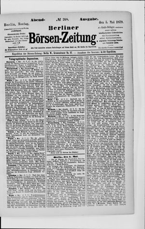 Berliner Börsen-Zeitung vom 05.05.1879
