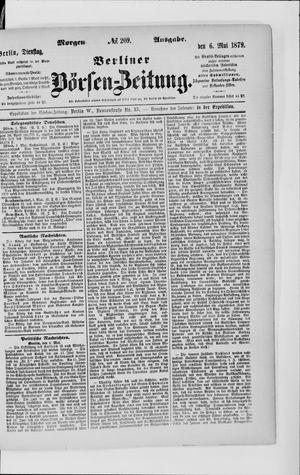 Berliner Börsen-Zeitung vom 06.05.1879