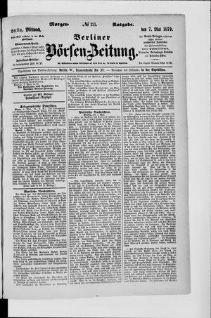 Berliner Börsen-Zeitung vom 07.05.1879