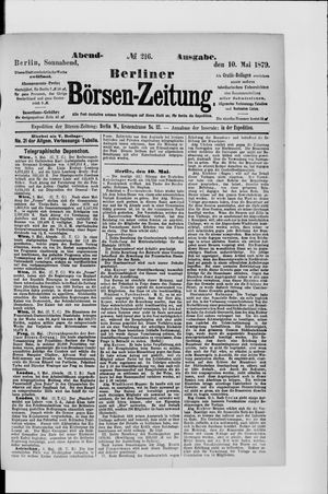 Berliner Börsen-Zeitung vom 10.05.1879