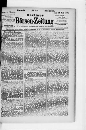 Berliner Börsen-Zeitung vom 12.05.1879