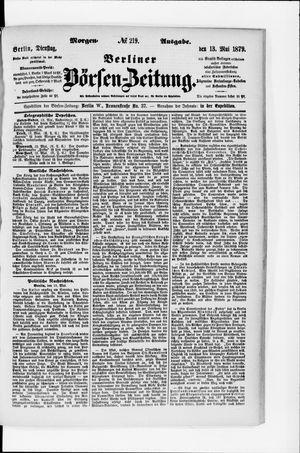 Berliner Börsen-Zeitung vom 13.05.1879