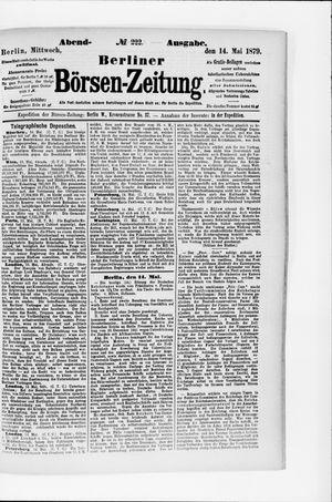 Berliner Börsen-Zeitung vom 14.05.1879