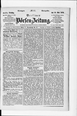Berliner Börsen-Zeitung vom 20.05.1879