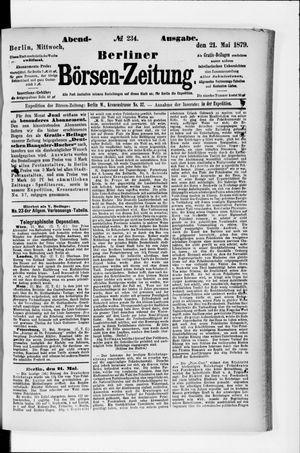 Berliner Börsen-Zeitung vom 21.05.1879