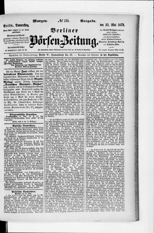 Berliner Börsen-Zeitung vom 22.05.1879