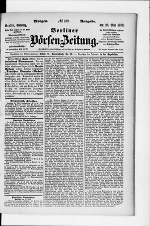 Berliner Börsen-Zeitung vom 25.05.1879