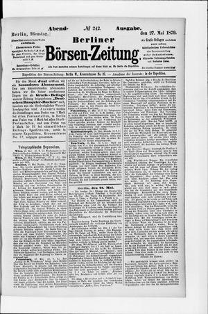 Berliner Börsen-Zeitung vom 27.05.1879