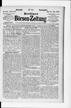 Berliner Börsen-Zeitung vom 28.05.1879