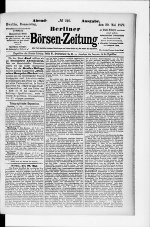 Berliner Börsen-Zeitung vom 29.05.1879
