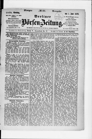 Berliner Börsen-Zeitung vom 01.06.1879