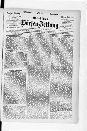 Berliner Börsen-Zeitung vom 04.06.1879