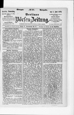 Berliner Börsen-Zeitung vom 05.06.1879