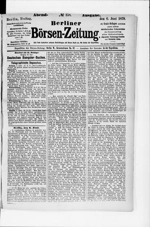 Berliner Börsen-Zeitung vom 06.06.1879