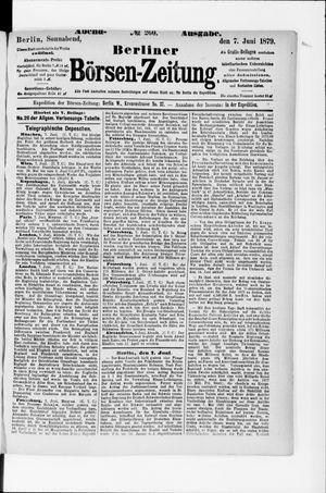 Berliner Börsen-Zeitung vom 07.06.1879