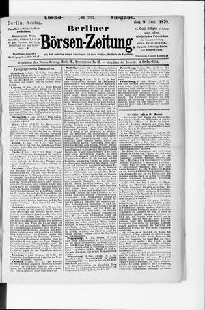 Berliner Börsen-Zeitung vom 09.06.1879