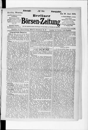 Berliner Börsen-Zeitung vom 10.06.1879