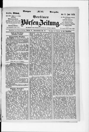 Berliner Börsen-Zeitung vom 11.06.1879