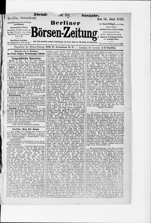 Berliner Börsen-Zeitung vom 14.06.1879