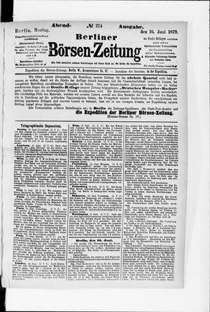 Berliner Börsen-Zeitung vom 16.06.1879